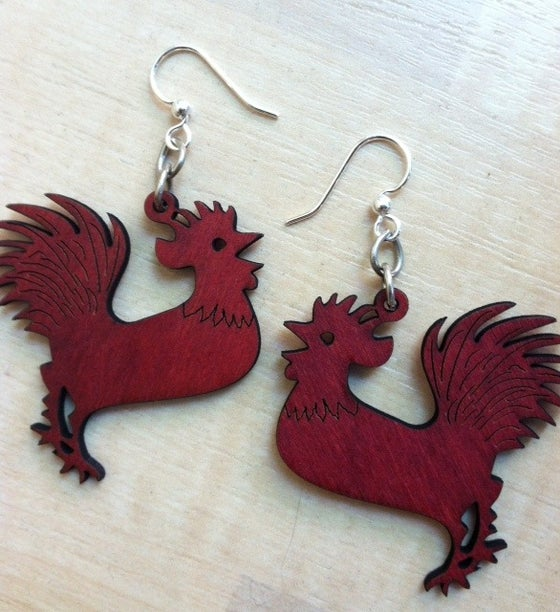Image of Rooster Earrings