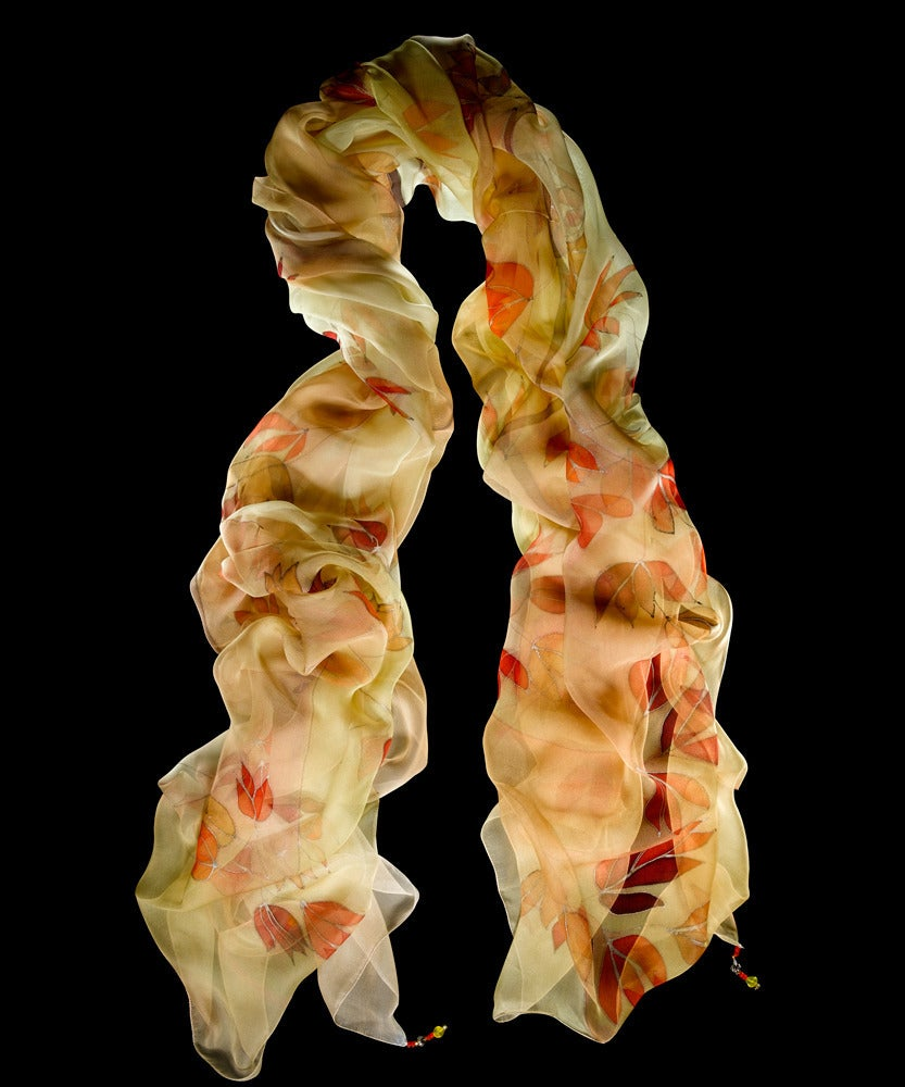 Image of Wild Tulips Shawl - Handpainted Silk