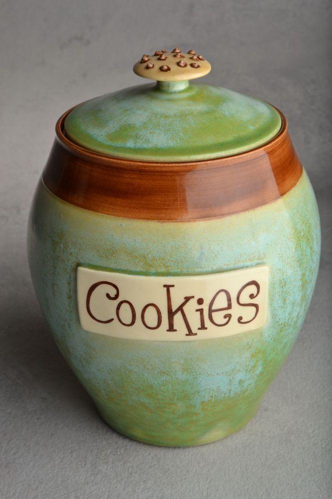 Image of Cookie Jar Patina & Brown Cookie Knob
