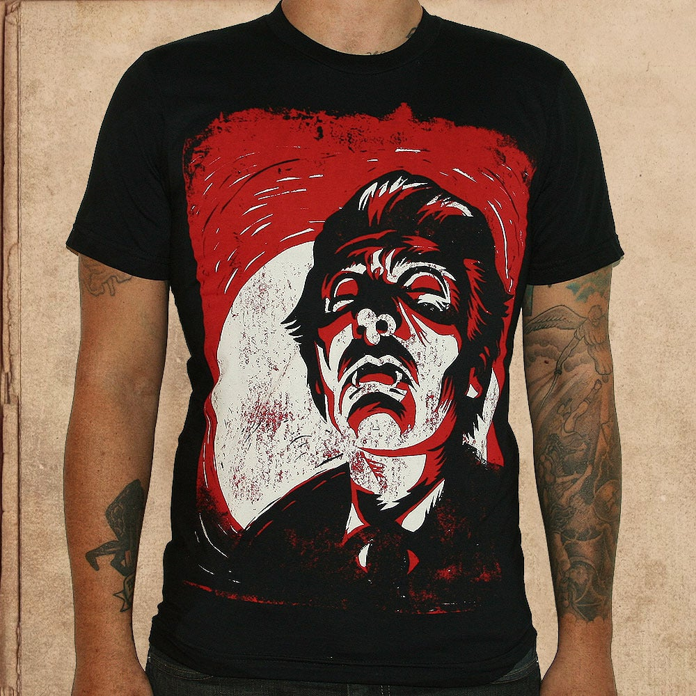 Image of Dracula - discharge inks - unisex - only XS-S left