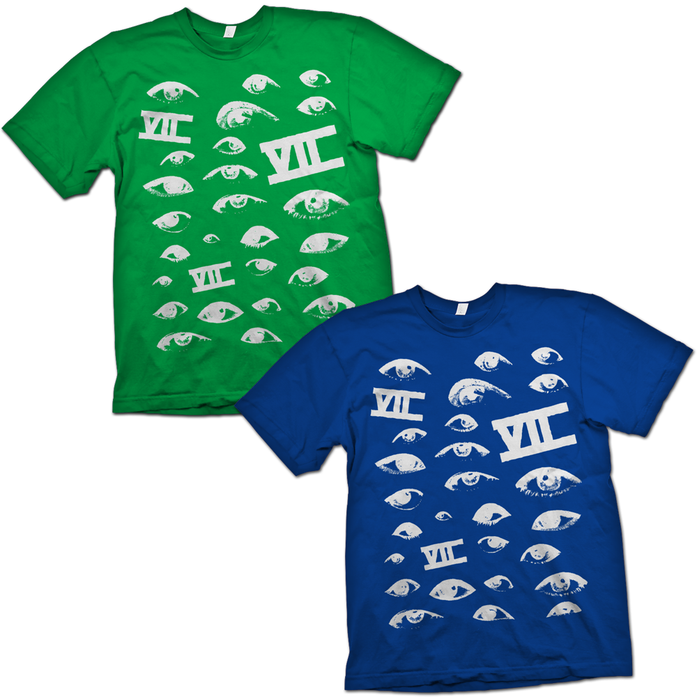 Image of Eyes Tee (Green or Blue)