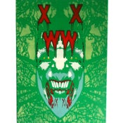"Image of ""Green Piece Of Mind"" (Sick Of All Faces Series) Canvas by XWWX"