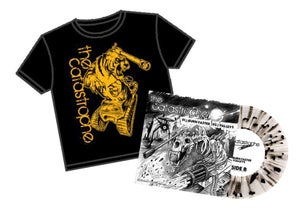 Image of Limited Edition Tiger Tank T-Shirt Clear w/Black splatter Vinyl Bundle