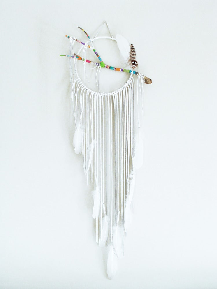 Image of Ethnic Pattern White Dream Catcher | NZ dlls