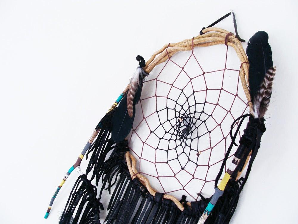 Image of Ethnic Pattern Black Dream Catcher      | NZ dlls