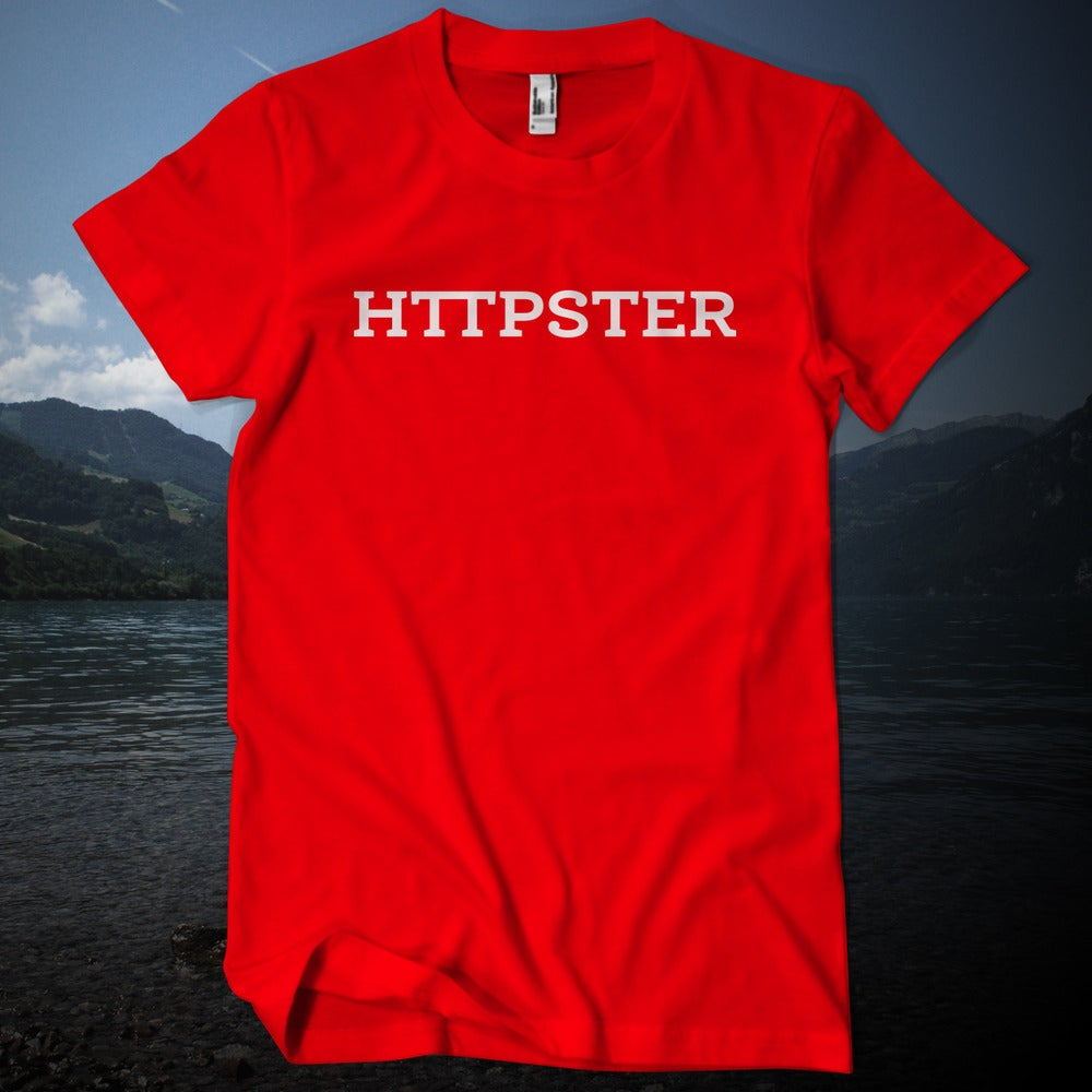 Image of HTTPSTER Tee, Swiss Edition (Red)