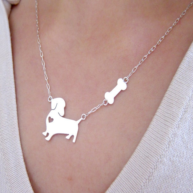 Image of my little dog with big heart handmade sterling silver