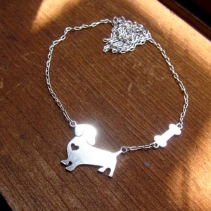 Image of My Little Dog with Big Heart - Handmade Sterling Silver Necklace