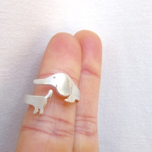 Image of My Little Dog (Puppy) Ring - Handmade Sterling Silver Ring