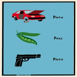 Image of Piece, Peas, Piece, Peace