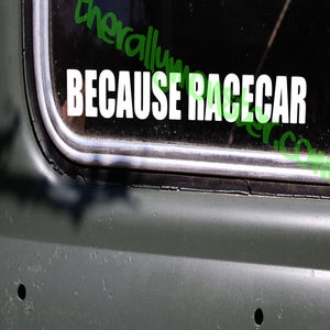 Image of BECAUSE RACECAR sticker