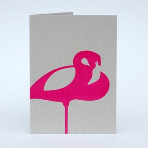Image of Pink Flamingo card