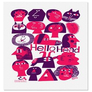 Image of hellohead tea towel