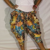 Image of Hawaii Bloom Cotton Harem Pants