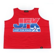 Image of JFK Basketball Tank (Red)