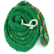 Image of Grassy Green Dog Leash Made from Recycled Saris