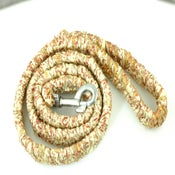 Image of Gold and Brown Dog Leash Made from Recycled Saris
