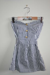 Image of Striped Nautical Halter Top