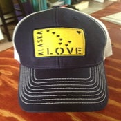Image of Alaska Love Trucker Hat- Blue