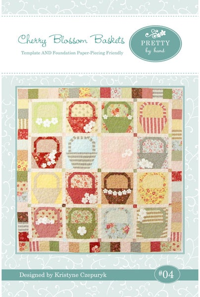 Image of PDF VERSION - Cherry Blossom Baskets Quilt Pattern