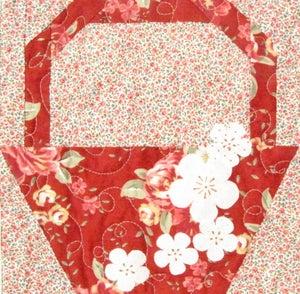 Image of PDF VERSION - Cherry Blossom Baskets Quilt Pattern