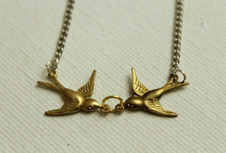 Image of Love Birds Necklace (ORIGINALLY $22)