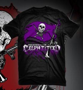 Image of Celph Titled Purple Flag Logo T-Shirt - Black Tee