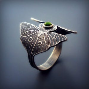 Image of Luna Moth Twins Ring