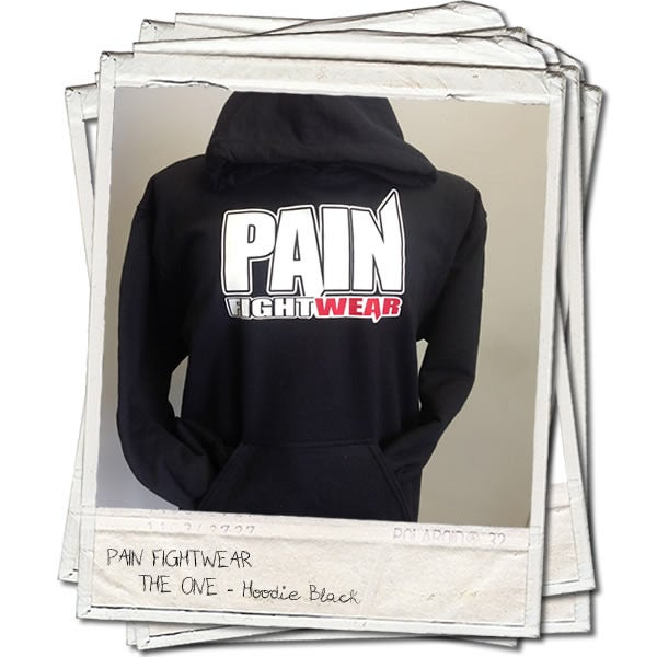 Image of PAIN FIGHTWEAR - MENS 'THE ONE' HOODIE BLACK