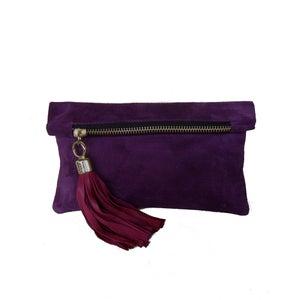 Image of Mini - Purple suede, As seen in Grazia Magazine