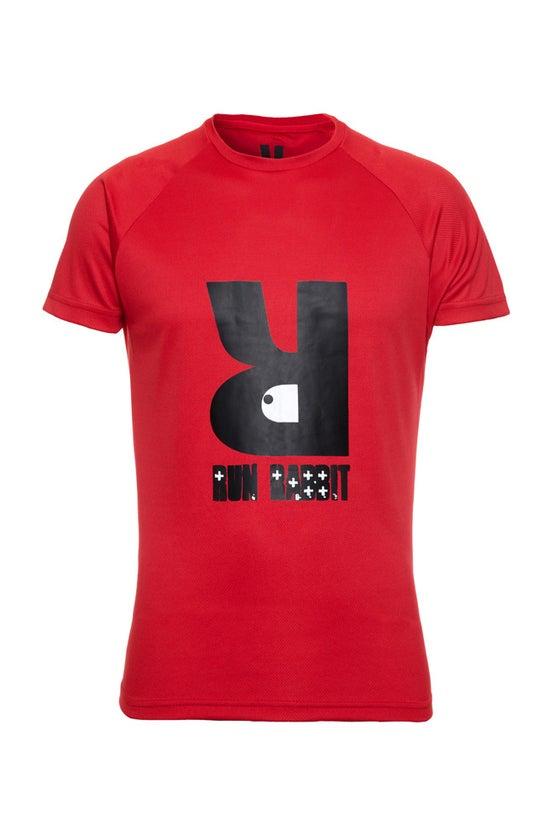 Image of Run Rabbit Logo Tee - Red