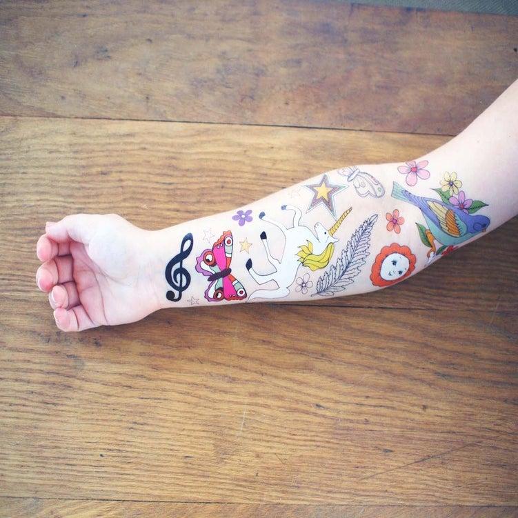 Image of  Unicorn Temporary Tattoos