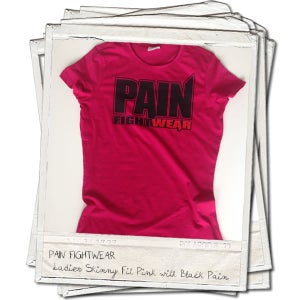 Image of PAINFIGHTWEAR 'THE ONE' LADIES SKINNIFIT T'SHIRT PINK