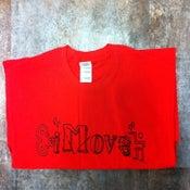 Image of Red Shirt x Black logo