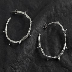 Image of Thorn Hoop Earring