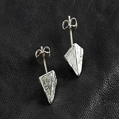 Image of Small Pyramid Stud Earring