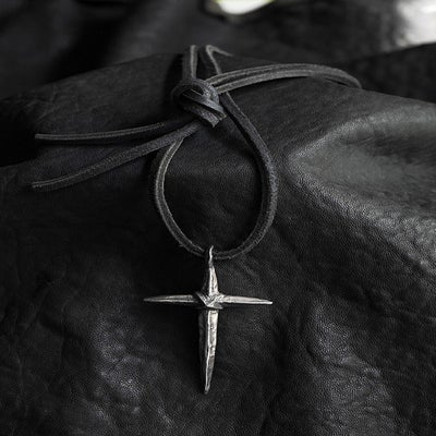 Image of Knife Edge Cross Necklace