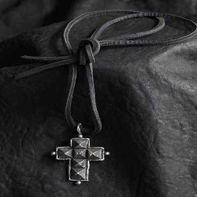 Image of Heavy Pyramid Cross Necklace