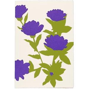 Image of Purple Flowers Card