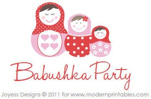 Image of Babushka Party Printable Pack