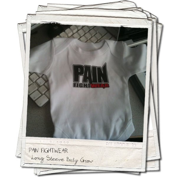 Image of PAINFIGHTWEAR BABY GROW-WHITE