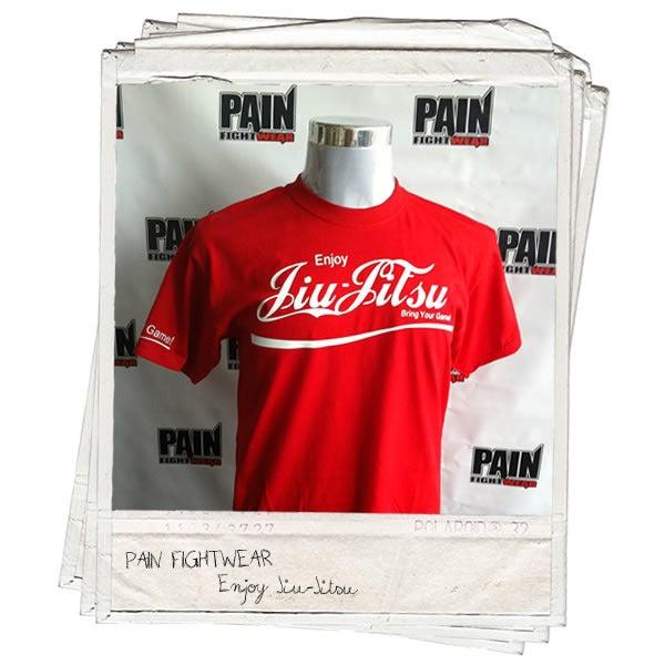 Image of PAINFIGHTWEAR 'BRANDED' JIU JITSU TEE RED