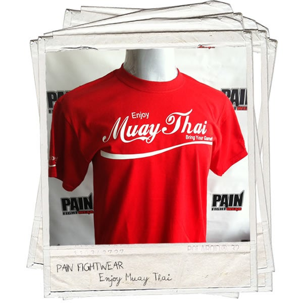 Image of PAINFIGHTWEAR 'BRANDED' MUAYTHAI TEE RED