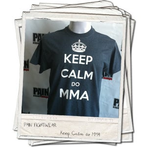 Image of PAINFIGHTWEAR KEEP CALM 'DO MMA' T'SHIRT DARK HEATHER