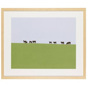 Image of Cows on a Hill (morning)