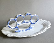 Image of New Cast Porcelain China Knuckles - Blue Floral
