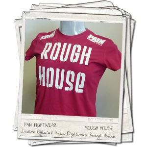 Image of PAINFIGHTWEAR LADIES ROUGH HOUSE SKINNI T'SHIRT PINK