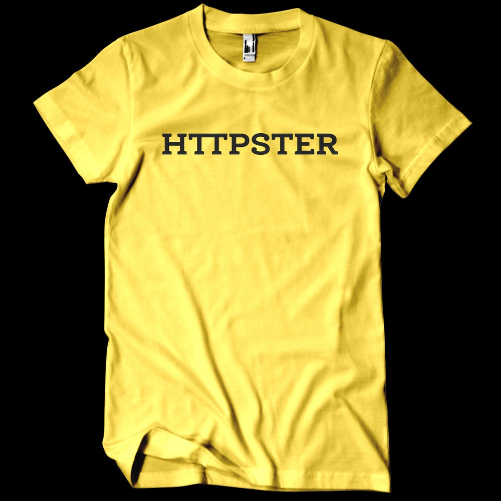 Image of HTTPSTER Tee, Bumblebee Edition (Yellow)