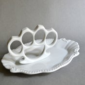 Image of New Cast Porcelain China Knuckles - Simple White