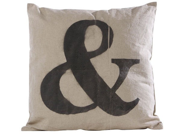 Image of '&' Canvas Pillow